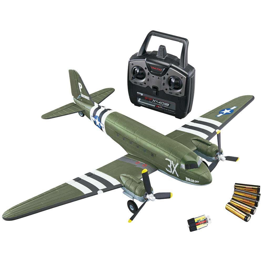 Details about Flyzone C-47 Skytrain Ready-To-Fly Twin Engine R/C Airplane  FLZA2430