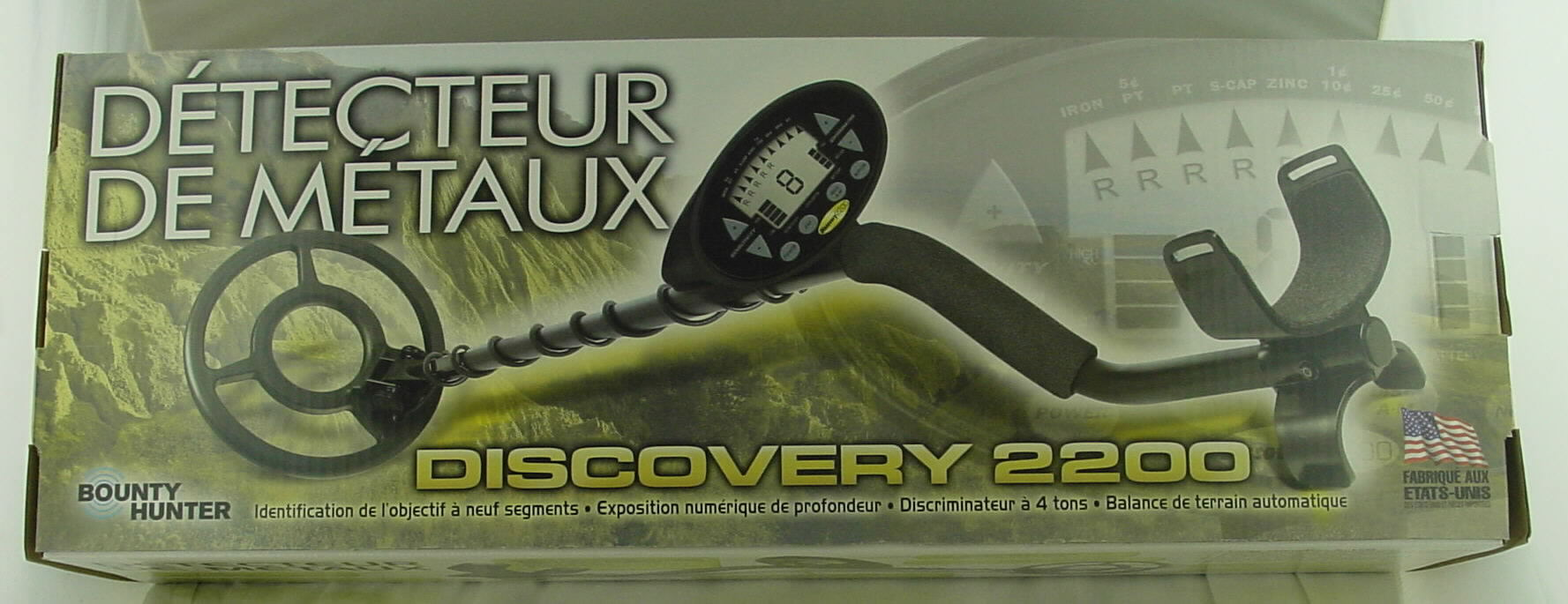 Discovery 2200 DISC22 Metal Detector by Bounty Hunter FTXDIS