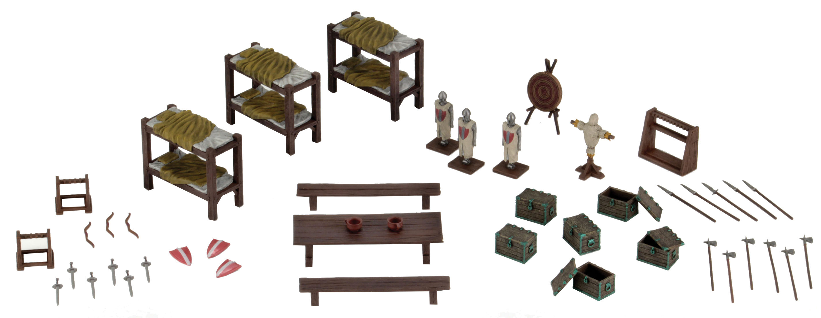 Wizkids-4D-Settings-Castle-Barracks-Painted-Miniatures-Scenery-Set-WZK73923 miniature 2