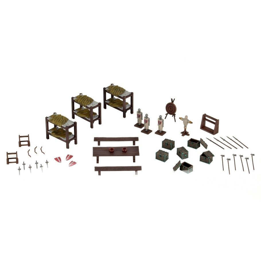 Wizkids-4D-Settings-Castle-Barracks-Painted-Miniatures-Scenery-Set-WZK73923